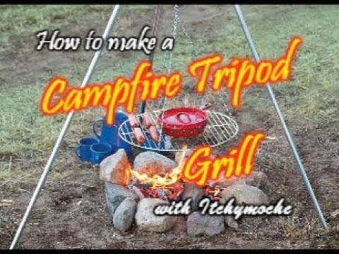 DIY - How to Make  a Tripod Campfire Grill