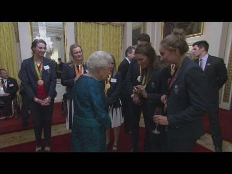 Queen holds reception for Britain's Olympians and Paralympians