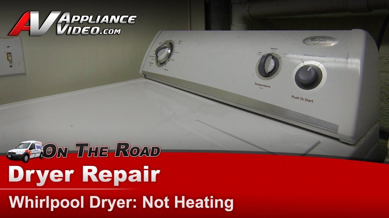 whirlpool dryer diagnostic repair not heating or shutting off wgd5100vq0 [ 1280 x 720 Pixel ]