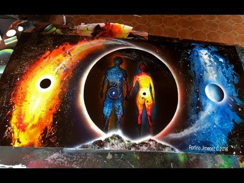 When you're in love spray paint art