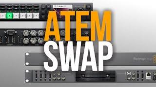 ATEM SWAP - Going From The Original ATEM Television Studio To The ATEM Television Studio HD   SETUP
