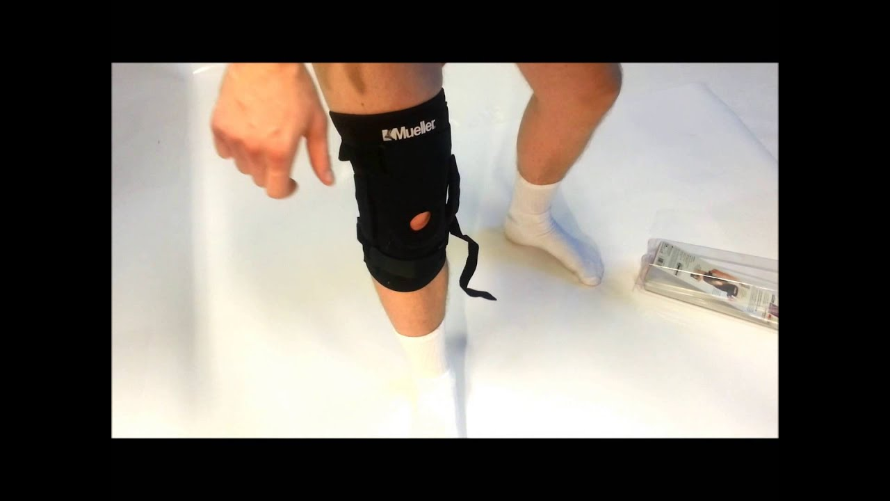 36eb912cb8 Kolenná ortéza Mueller Hinged Knee Brace - YouTube