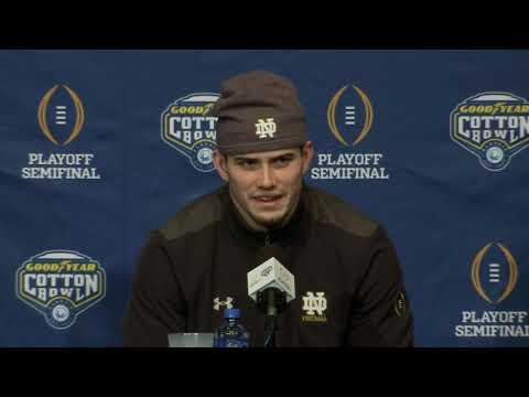 Cotton Bowl: Notre Dame arrival press conference