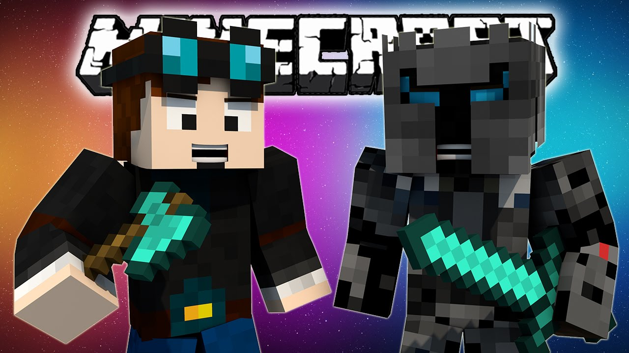 THEDIAMONDMINECART vs POPULARMMOS MOD - DanTDM and ...