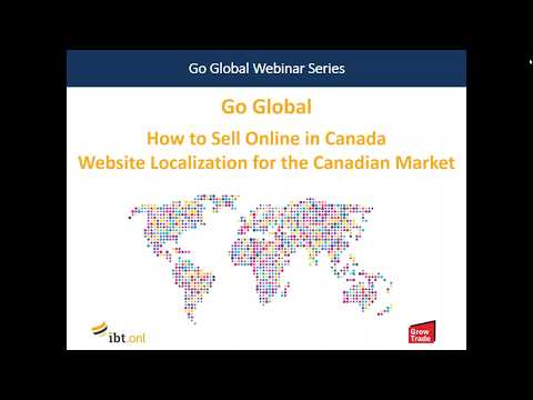 Go Global Webinar: How To Sell Online in Canada