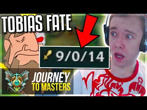 REDMERCY & TOBIAS FATE RETURN! 9-0-14 DOMINATION - Journey To Masters #54 S7 - League of Legends