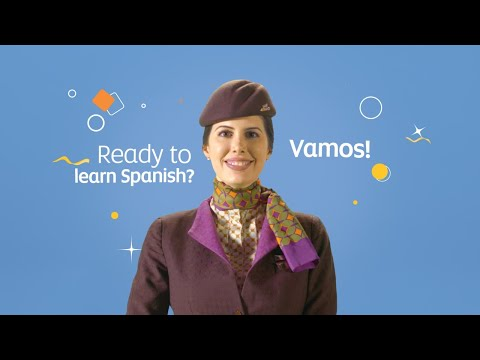 Learn Basic Spanish with our Cabin Crew   Etihad @ Home
