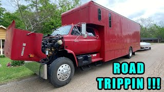Cross-Country Road Trip in The Biggest Chevy Square Body Ever! Part 1: Finnegan's Garage Ep.142