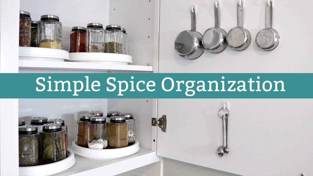 Kitchen Organization: Spice Cabinet Organization - YouTube