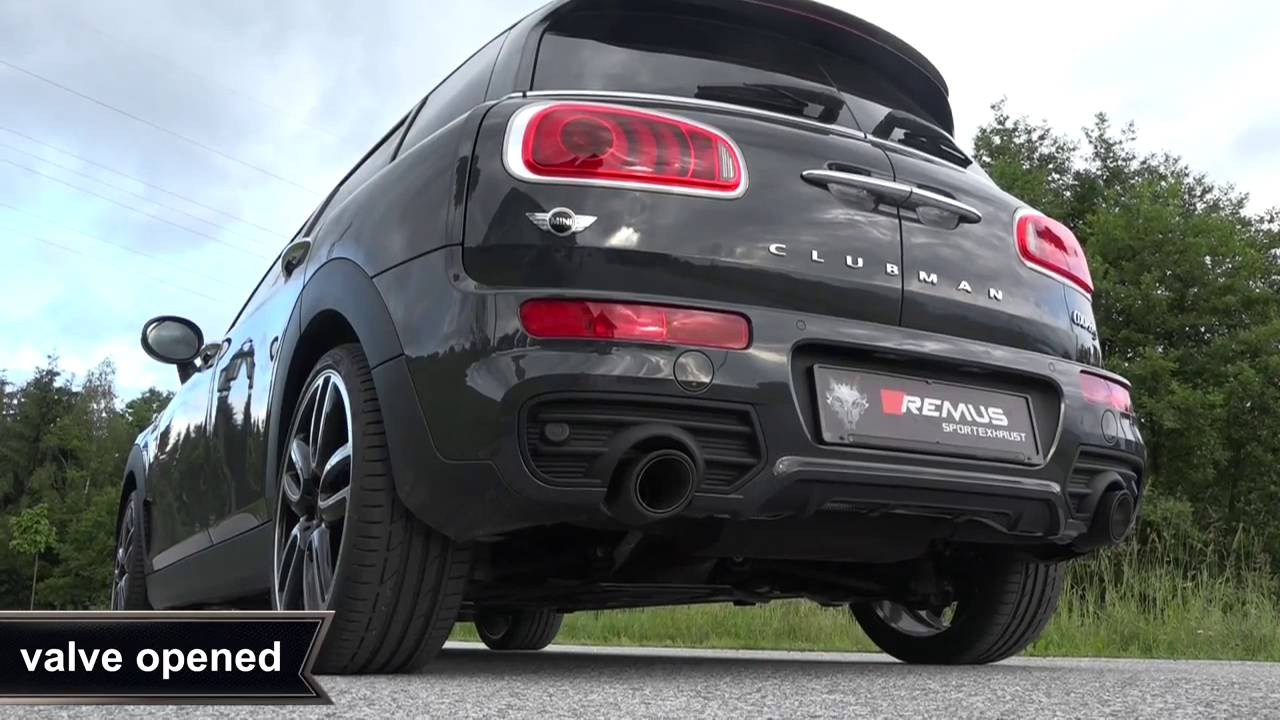Mini Clubman Cooper S F54 With Remus Cat Back System Motech Youtube