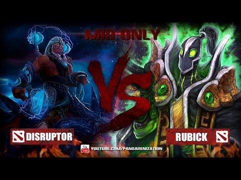 видео: disruptor vs rubick [Битва героев mid only] dota 2