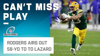 Rodgers LAUNCHES One to Allen Lazard for 58-Yd TD