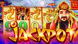 MAX BET PLAY + BONUS, JACKPOT HANDPAY!!! Choy Sun Doa 5c Aristocrat Video Slots