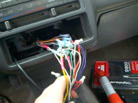 car radio wiring diagrams electrical light switch diagram how to wire a tachometer civic - youtube