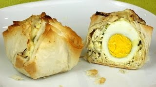 Phillo Pastry Bites With Eggs And Zucchini Recipe