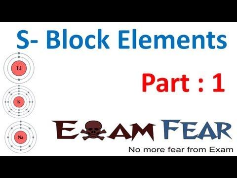 Chemistry S Block Elements part 1 (Introduction) CBSE class 11 XI