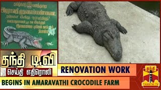 Effetc of Thanthi TV Newscast : Renovation Work Begins in Amaravathi Crocodile Farm, Tirupur