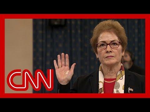CNN:Former US Ambassador to Ukraine Marie Yovanovitch impeachment hearing full remarks