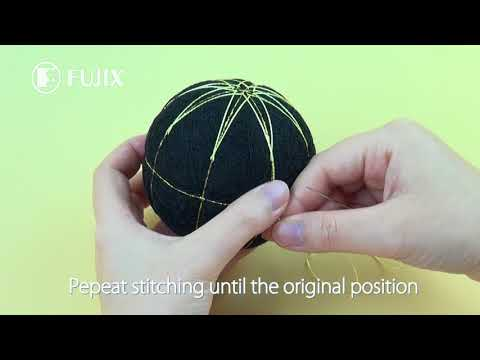 How To Stitch KIKU Pattern TEMARI