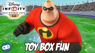 The Incredibles Disney Infinity 3.0 Toy Box Fun Gameplay with Mr Incredible