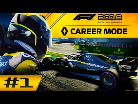 F1 2018 Career Mode Part 1: THE JOURNEY BEGINS