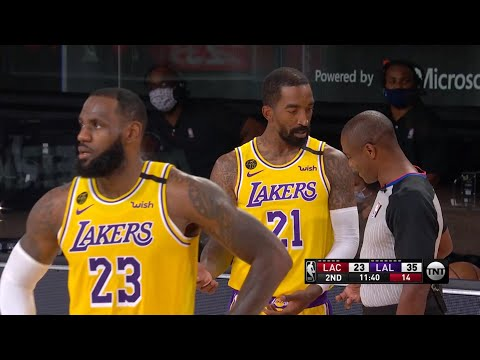 LAKERS vs CLIPPERS - 1st Half Highlights | NBA Restart
