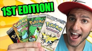 $100 1ST EDITION RARE OLD SCHOOL POKEMON CARD BOOSTER PACKS OPENING!