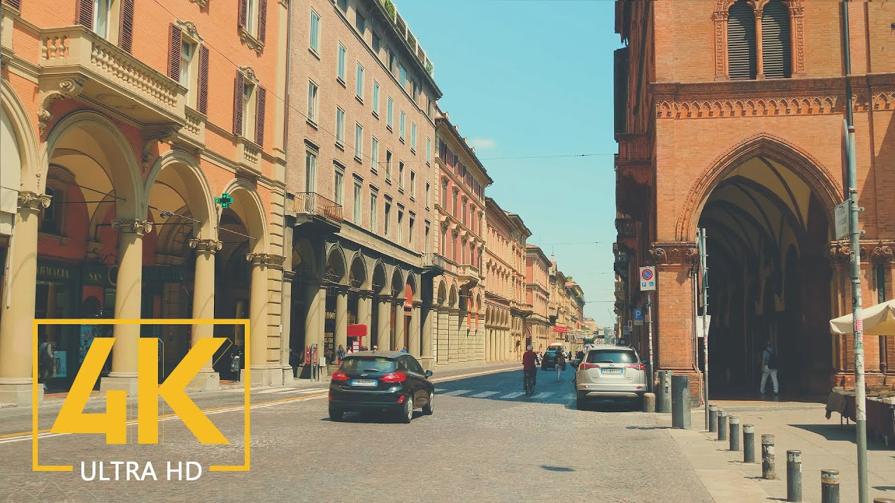 4K Bologna, Italy - City Life Documentary Film with Relaxing Music