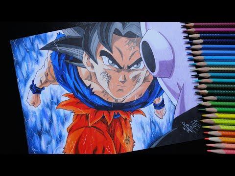 Drawing Goku ultra instinct vs Jiren - Dragon Ball Super! Speed drawing #24
