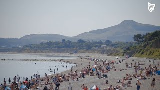 Hundreds flock to Killiney Beach on hottest day of 2021