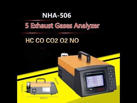 NHA-506 Automobile Exhaust Gas HC CO CO2 O2 NO  Car Truck Bus Exhaust Gas Calibration Tester