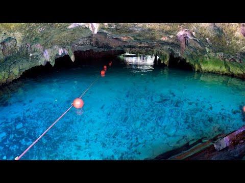 Grand Cenote Tulum Quintana Roo Yucatan Mexico Cenotes Cave Grotto POV swimming snorkeling GoPro 4K