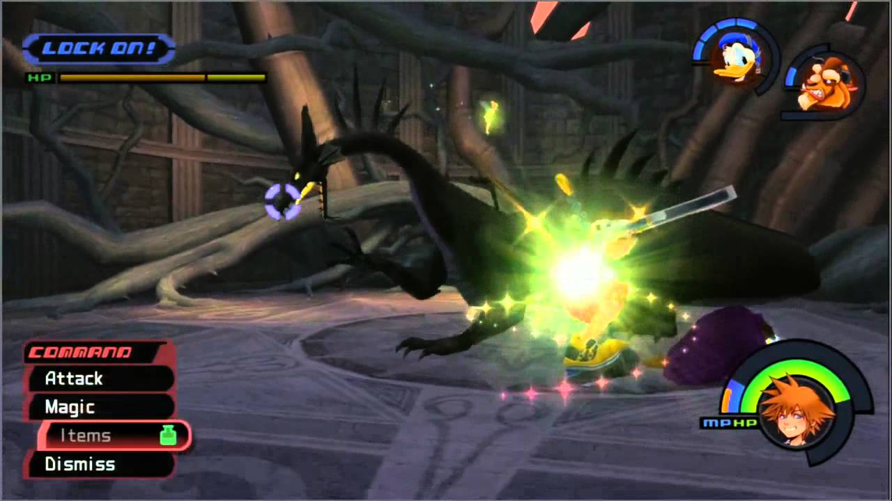 Eng Kingdom Hearts Hd 1 5 Remix Maleficent Dragon Boss Proud Mode
