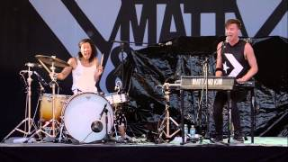 Matt and Kim - Cameras (Live at Rock the Garden)