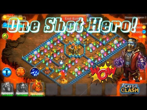 Dungeon 2-1 Creation-01 ONE SHOT HEROES EPIC Castle Clash