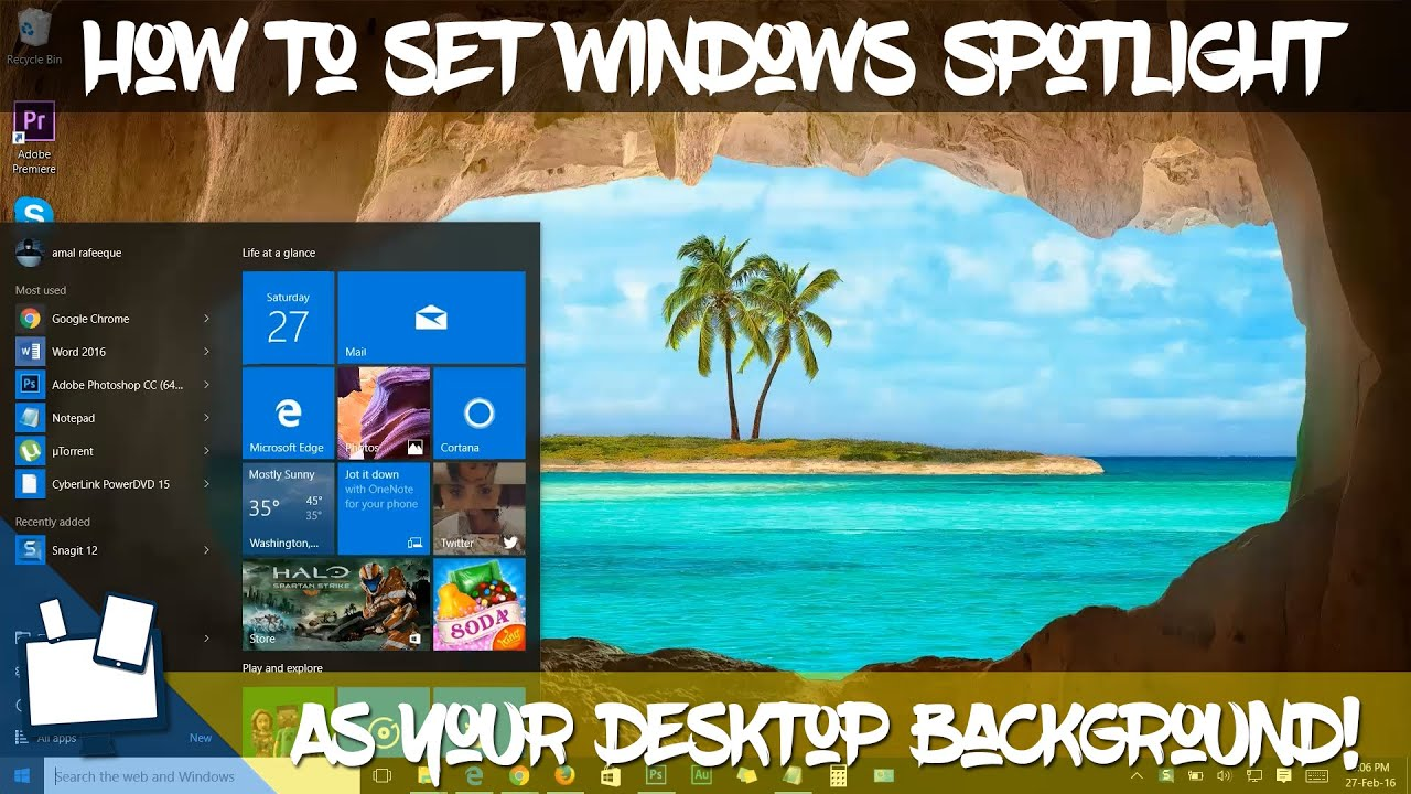 how to use windows spotlight images as your desktop wallpaper really easy youtube