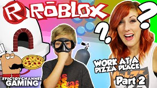 ROBLOX Working At A Pizza Place Part #2 Johnny Teaches Cassi To Play a Family Gaming Walkthrough