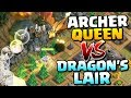 "DRAGON'S LAIR vs QUEEN ""Clash of Clans"" Archer Queen Challenge - Can We 3 Star Dragons Lair in CoC!"