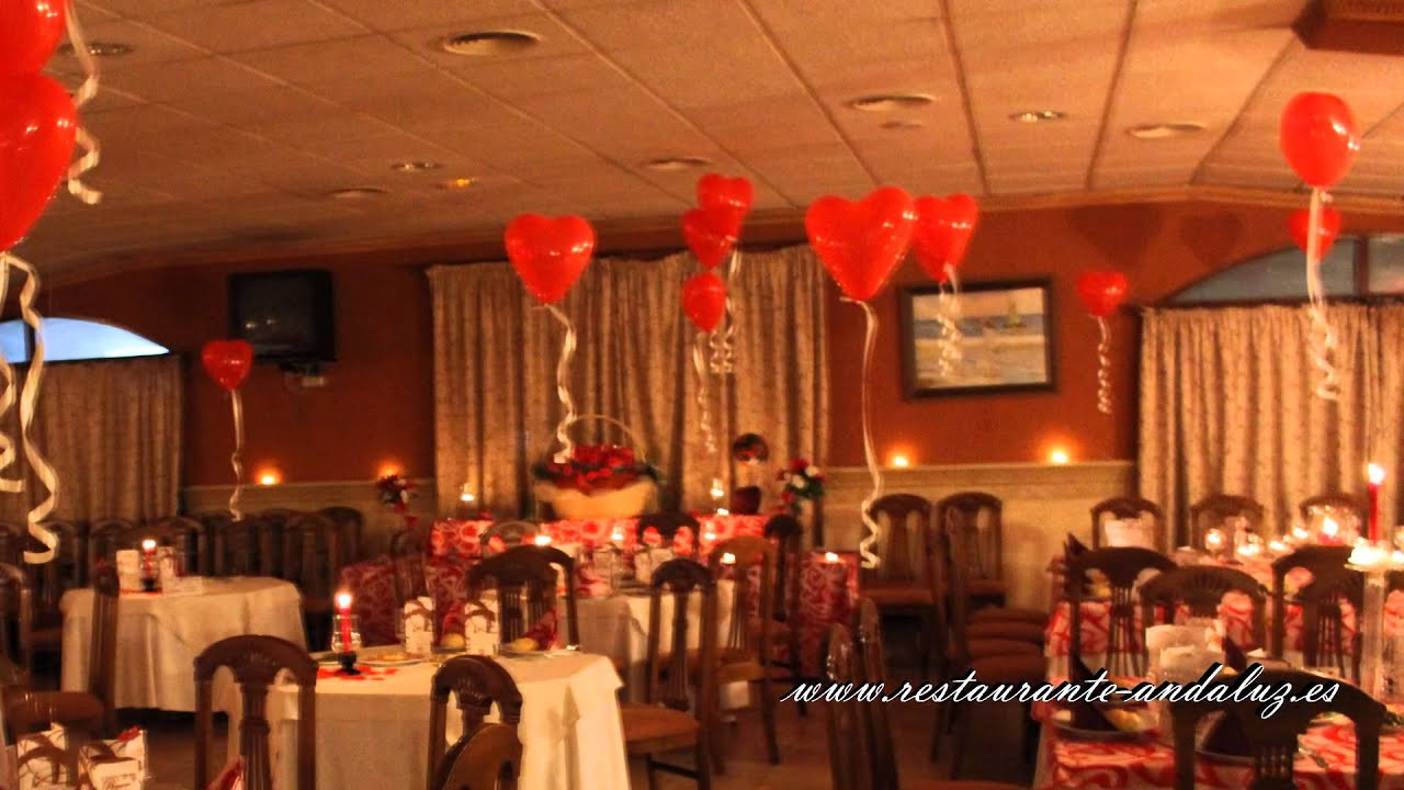 San valent n 2014 en restaurante andaluz youtube - Decoraciones para la pared ...