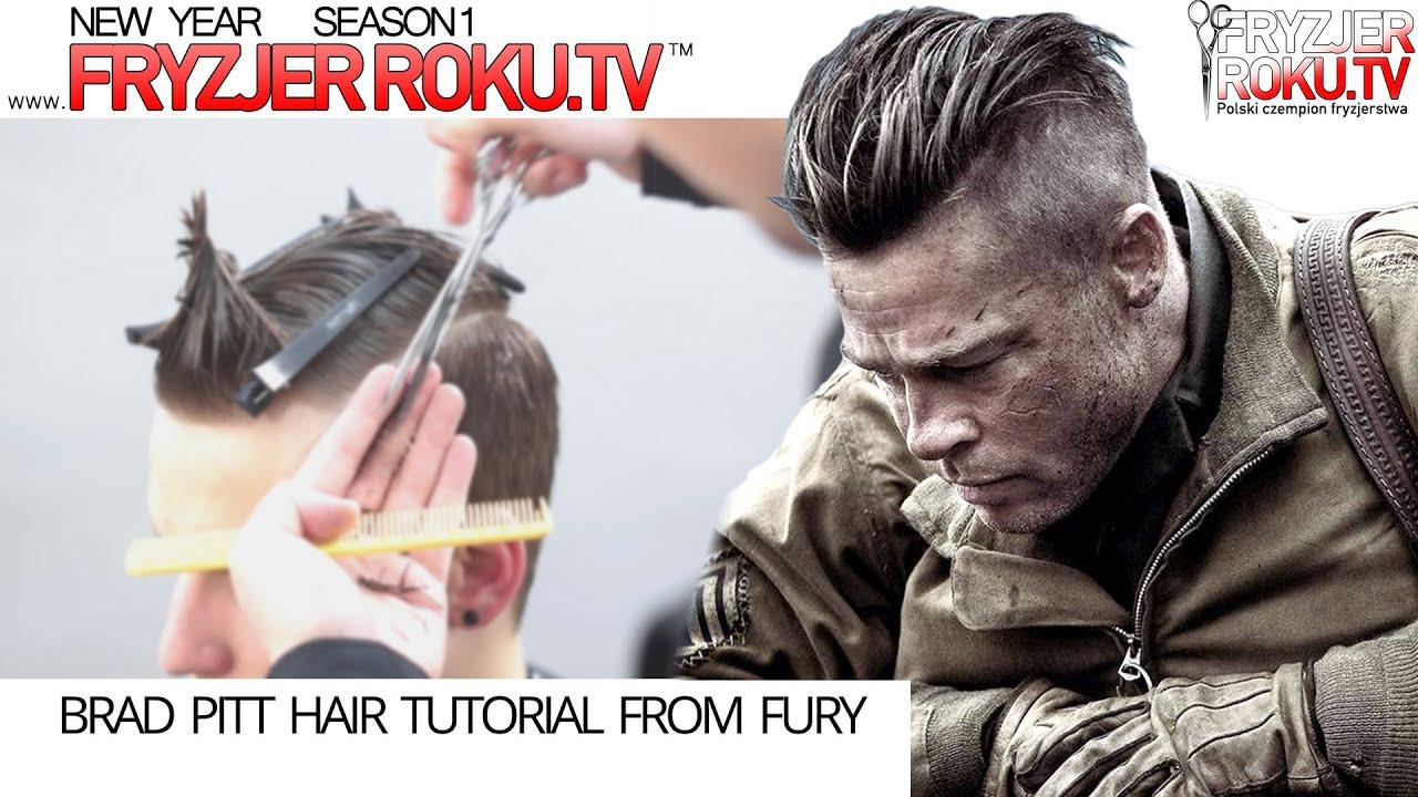 brad pitt hair tutorial fury