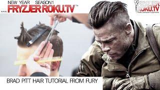 Brad Pitt Hair Tutorial from Fury. Akademia Wierzbicki&Schmidt. FryzjerRoku.tv