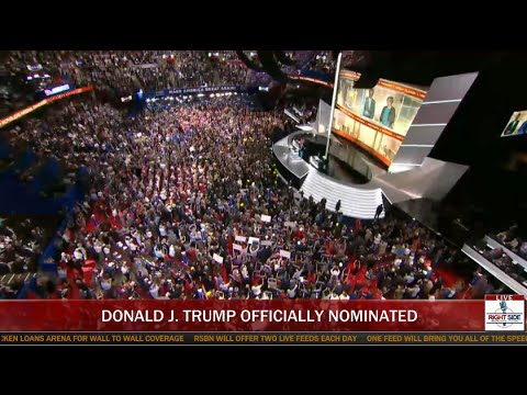 Historic Moment Donald Trump Officially Wins GOP Nomination (7-19-16)