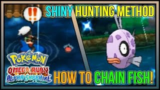 how to chain fish for shiny pokemon   fast shiny pokemon in pokemon omega ruby and alpha sapphire