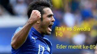 Video Gol Pertandingan Italia vs Swedia