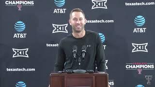 Texas Tech Football vs. Iowa State: Press Conference   10.23.2018