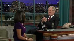 David Letterman Salma Hayek Pinault Eats Bugs Part 2