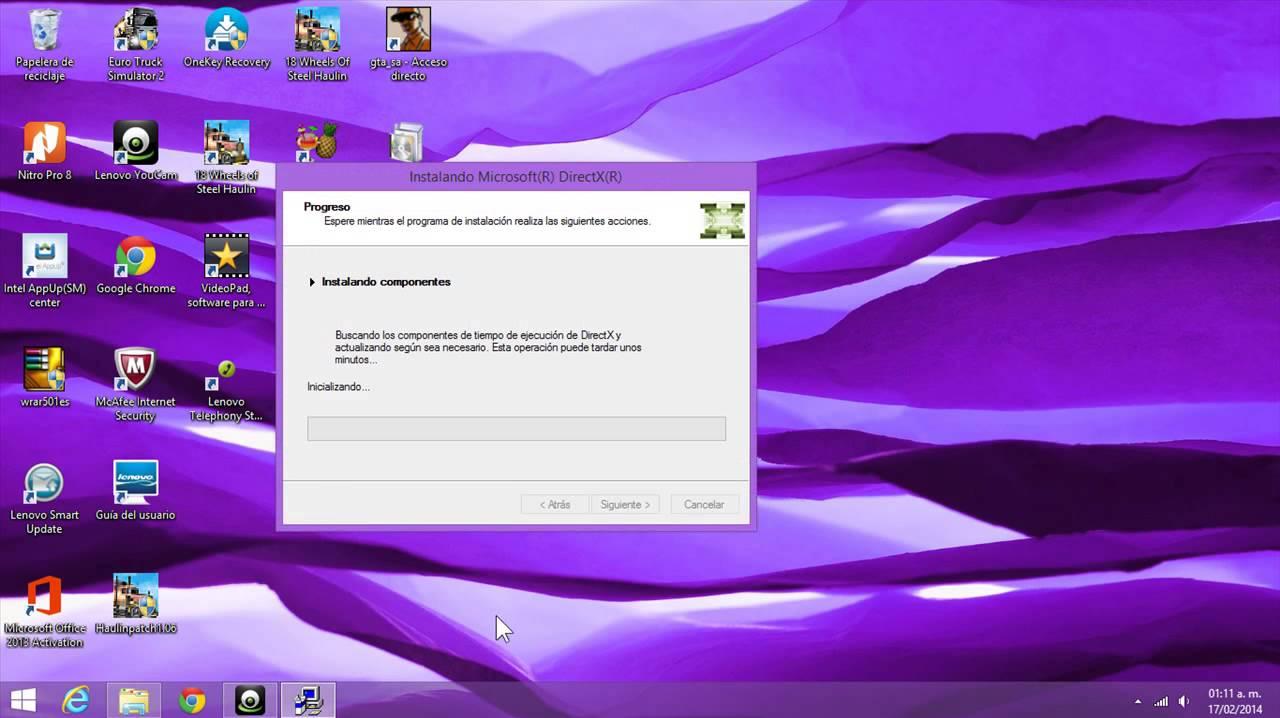 como descargar directx 9 para windows 8,8 1,7,vista,xp