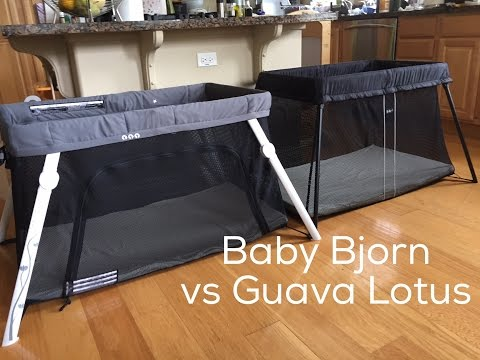 TRAVEL CRIBS: Baby Bjorn Travel Crib Light vs Guava Family Lotus
