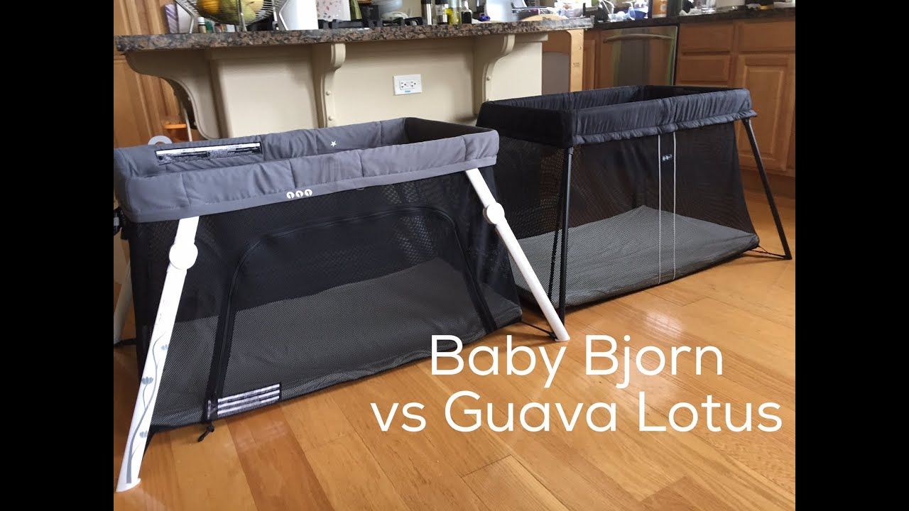 Baby bed vs bassinet - Review Baby Bjorn Travel Crib Light Vs Guava Family Lotus Travel Crib Totscoop Blog