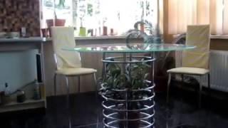 видео Купить обеденный стеклянный стол для кухни в Барнауле